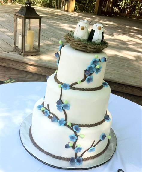 wedding cakes in destin fl birds nest branches flowers wedding cake in