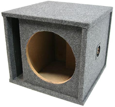 Subwoofer Embassy Ew 129 Orange 1 car audio single 12 quot slot vented port spl sub box subwoofer enclosure gray carpet 1x12vmbass wb