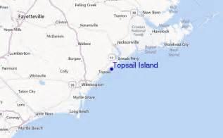 topsail island carolina map topsail island pr 233 visions de surf et surf report carolina