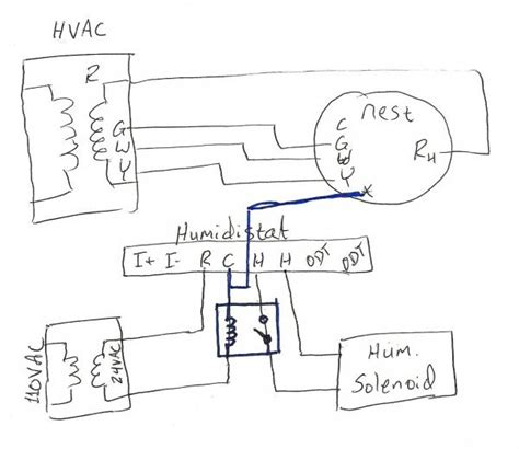 nest thermostat humidifier wiring diagram for with get