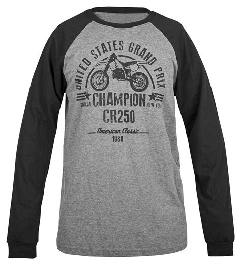 Tshirt 250 Black honda cr250 baseball t shirt revzilla