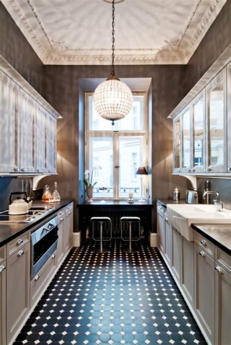 narrow kitchen design ideas 31 stylish and functional narrow kitchen design ideas digsdigs