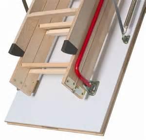 fakro wooden folding loft ladder lwk komfort 4 section