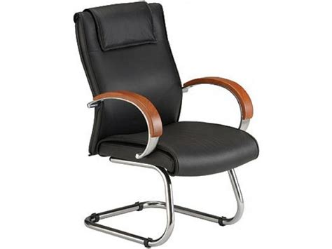 leather guest chair executive leather guest chair with wood accents ofm 565