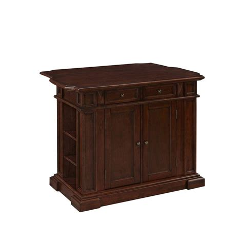 Kitchen Island Cherry Wood Americana 48 In W Wood Kitchen Island In Cherry 5005 944 The Home Depot