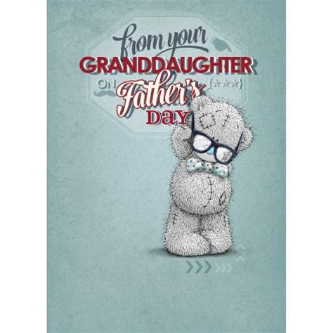 From Me To You Gift Card - from your granddaughter me to you bear fathers day card f01ss055 me to you bears