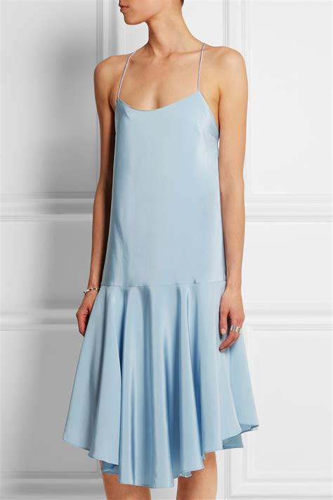 Dress Of The Day Som Silk Dress by Product Of The Day Tibi Asymmetrical Silk Satin Dress