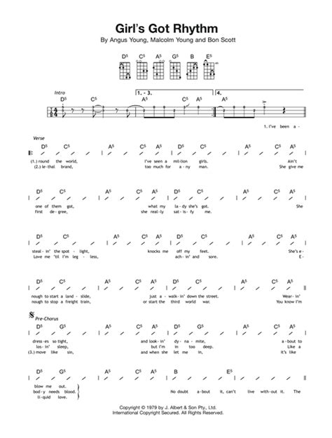 strumming pattern how you get the girl tablature guitare girl s got rhythm de ac dc ukulele