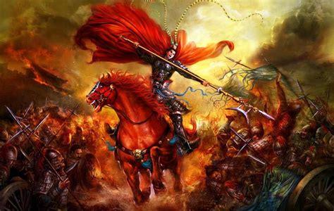 warrior lu bu defending hu lao gate war    kingdoms china east asian war art
