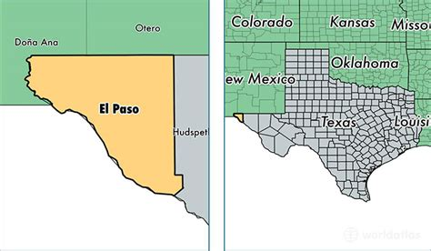 where is el co on texas map el paso county texas map of el paso county tx where is el paso county