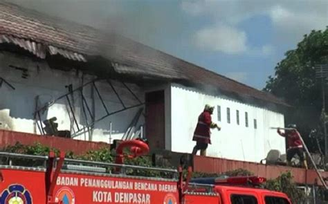 Kompor Listrik Di Bali diduga korsleting listrik bank mandiri di denpasar terbakar okezone news
