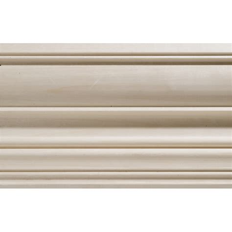 Decorative Wood Trim Lowes by Shop 4 5 In X 8 Ft White Hardwood Crown Moulding At Lowes