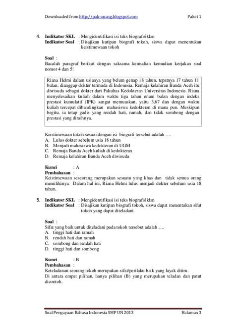 contoh teks biografi kapitan pattimura contoh soal bahasa indonesia1 un smp per skl