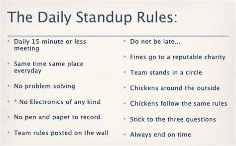 Daily Standup Meeting Template by 9 Tips For An Effective Stand Up Meeting