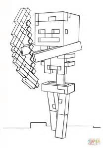 minecraft skeleton template minecraft skeleton with bow coloring page free printable