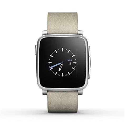 Pebble Time Steel Smartwatch White is the pebble waterproof are there more features