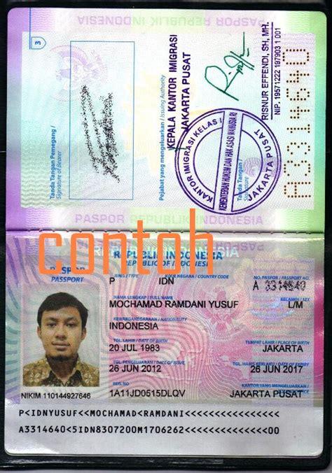 prosedur pembuatan paspor baru perorangan mochamad ramdani