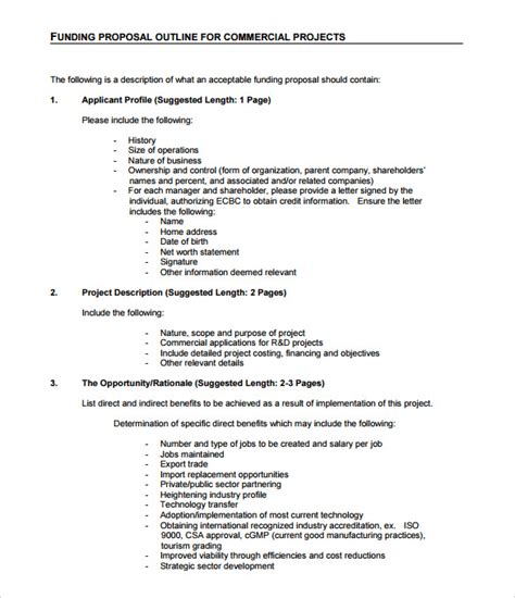 sle funding proposal template 7 free documents in