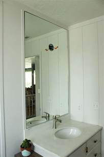 how to hang a bathroom mirror how to professionally install a bathroom mirror