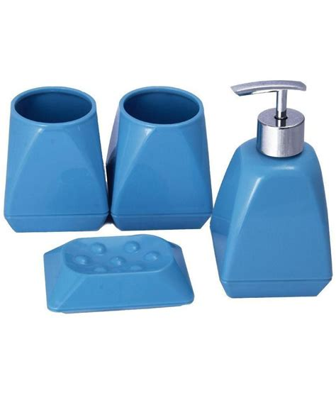 bathroom soap and lotion dispenser set buy novicz blue bathroom set of soap dispenser soap dish