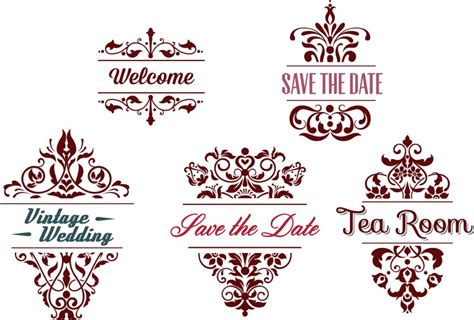 Wedding Borders Vector by Ornamental Wedding Frames Vector Free