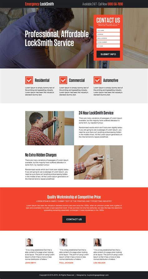 layout landing page beautiful landing page design templates for locksmith 2016