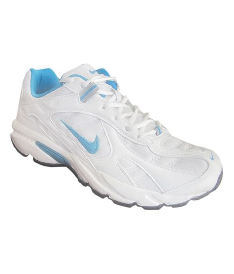 white nike athletic shoes buy nike white running sports shoes for snapdeal