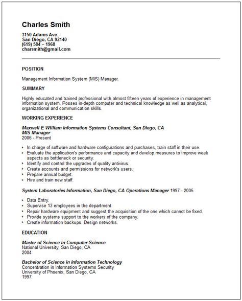 exle of simple resume format basic resume objective exles templates resume