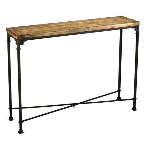 wood and metal sofa table cunningham reclaimed wood industrial loft style modern
