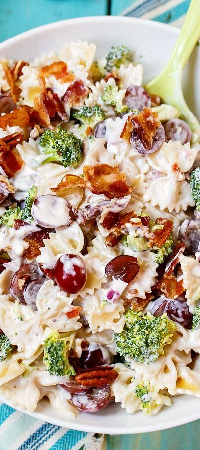 pasta salad with bacon pasta salad pasta and sweet and salty on pinterest