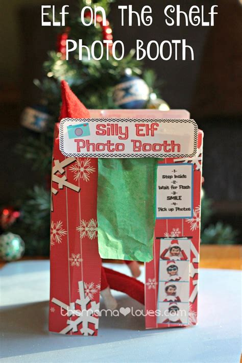 Free Printable Elf On The Shelf Photo Booth | elf on the shelf photo booth printable elf fun