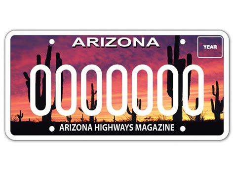 Arizona Vanity Plate by Arizona Drivers Vanity License Plates