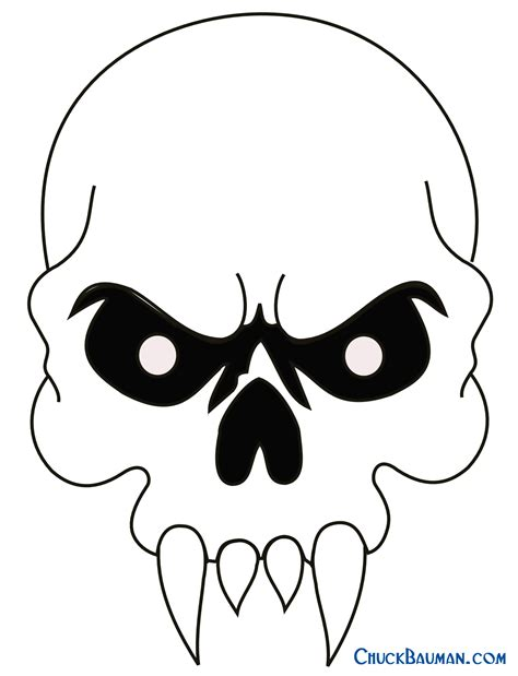 skull templates easy cool skull drawings cliparts co