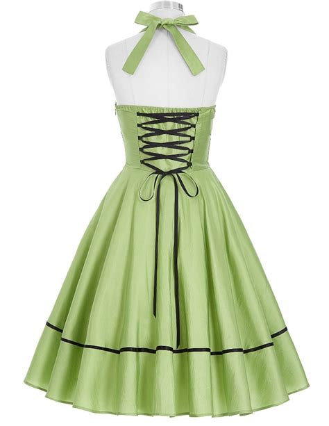 swing halter dress lime pin up swing halter 1950sglam