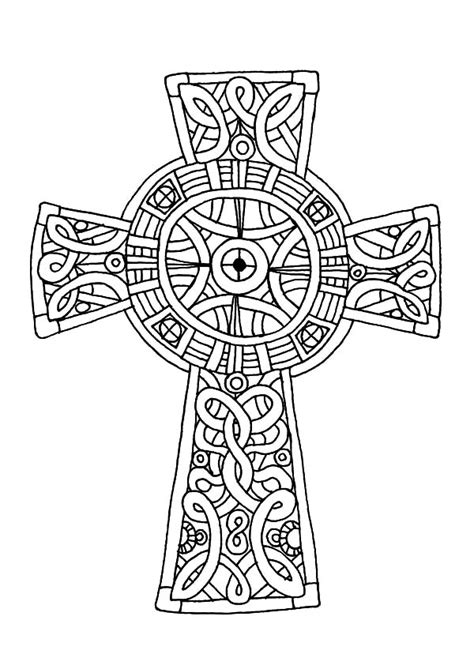 cornish celtic cross coloring pages cornish celtic cross