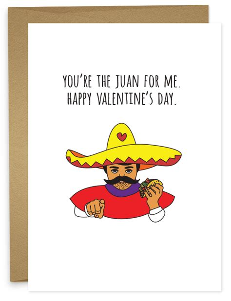 youre  juan   funny happy valentines day card