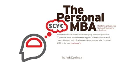 Le Personal Mba by Le Personal Mba De Josh Kaufman Horizoom