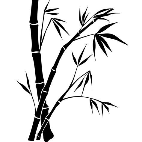 Stickerstiker Kaca Bambu 3 sticker dessin de bambou stickers nature feuilles ambiance sticker