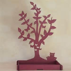 arbre porte bijoux d 233 cors quot hiboux quot accessoires de