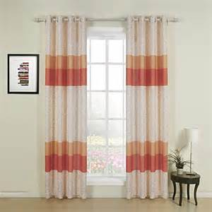 Orange Window Curtains Two Panels Orange Print Contemporary Window Curtain Usd 69 99