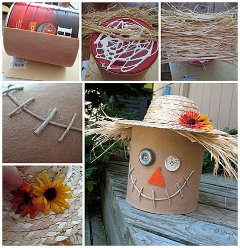 coffee can craft projects diy scarecrow ideas for fall house of hawthornes