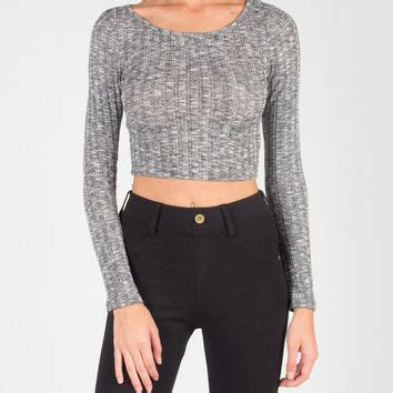 Ribbed Knit Sleeve Top sleeve ribbed knit crop top large from 2020ave