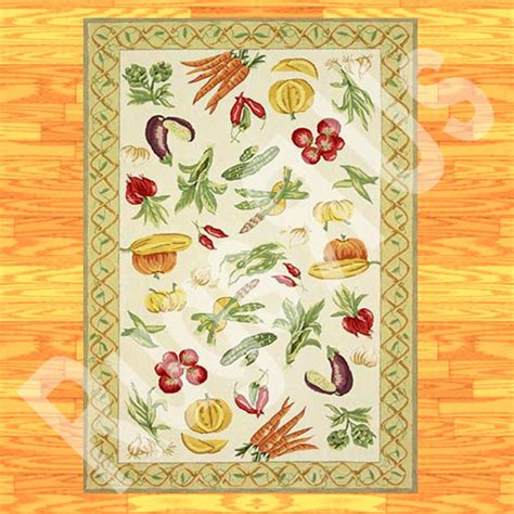 Vegetable Kitchen Rugs Second Marketplace Rug Kitchen Vegetables 001