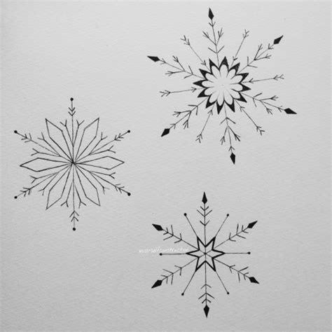 snowflake tattoo design snowflake on