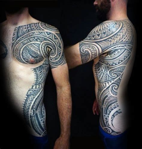 top 40 best tribal rib tattoos for men manly ink design