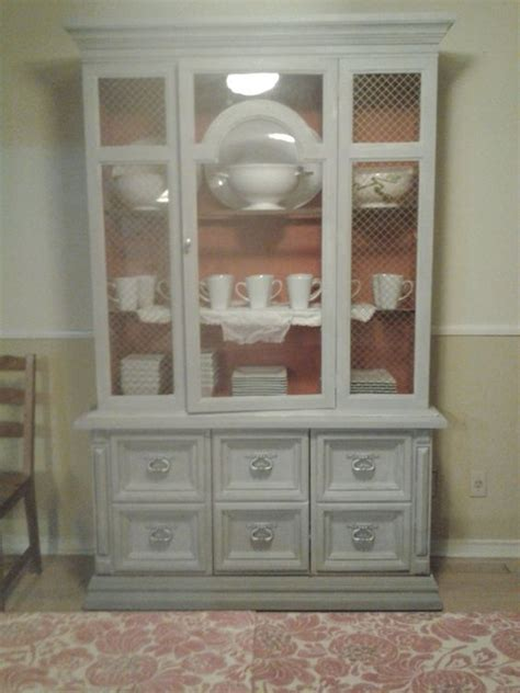 chalk paint brown brown laminate china cabinet after using