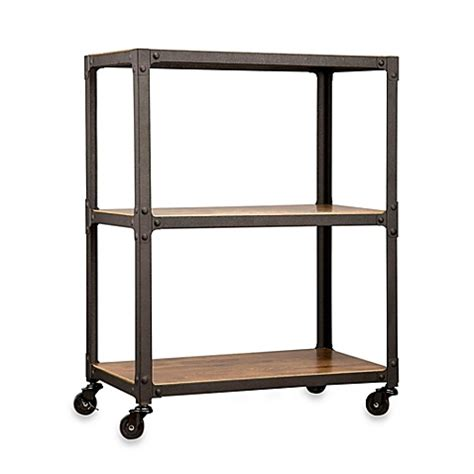 Bed Bath And Beyond Cart by Wood And Metal 3 Tier Rolling Cart Bed Bath Beyond
