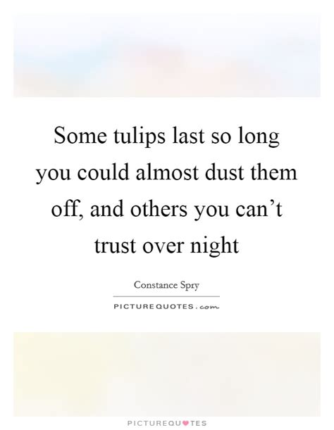 can t last long in bed some tulips last so long you could almost dust them off