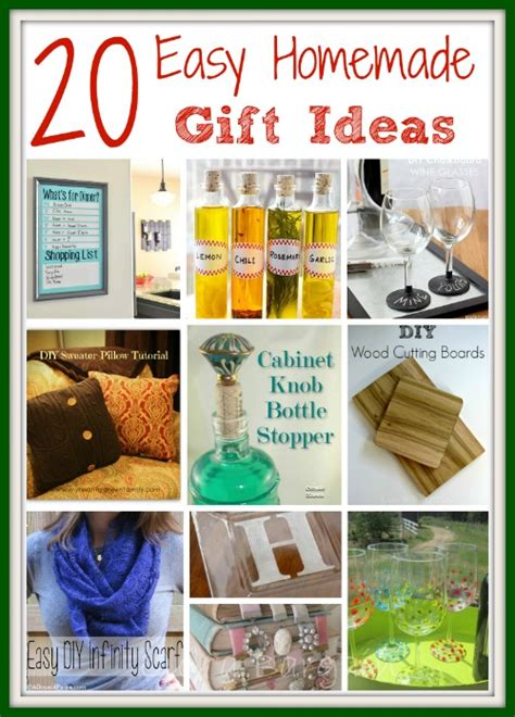 Simple Handmade Gift Ideas - easy gift ideas