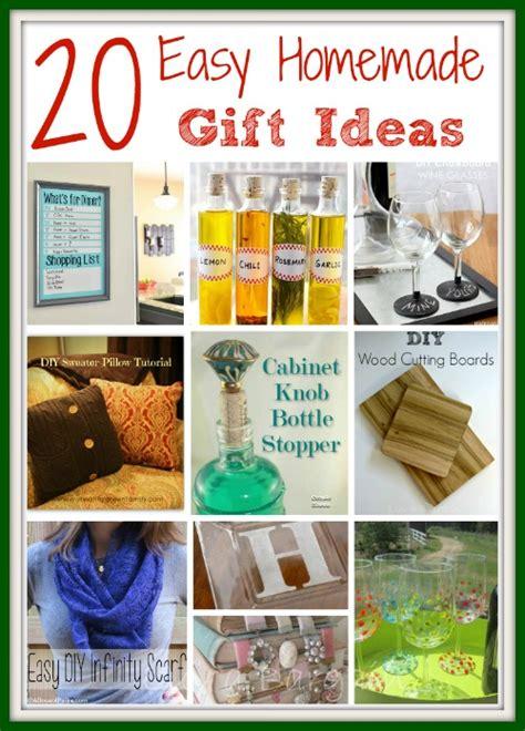 Easy Handmade Gift Ideas - easy gift ideas